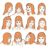 Sketch CM Orangenbluete by Keelita