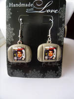 Nintendo Fan Art Earrings Goldeneye N64 Cartridges by skatemaster007