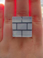 Nintendo Fan Art Super Mario Ice Block Ring by skatemaster007
