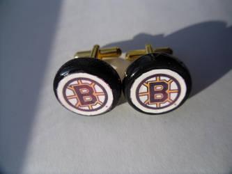 NHL Hockey Puck Cufflinks by skatemaster007