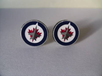 Winnipeg Jets Cufflinks by skatemaster007