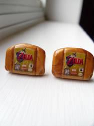 Fan Art Legend of Zelda N64 Cartridge Cufflinks by skatemaster007