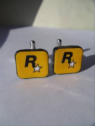 Fan Art Rockstar Games Cufflinks Clay by skatemaster007