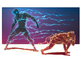 the Flash: Zoom and Barry by AceWest