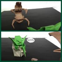 Yoda vs Droideka by Back-2-Life