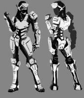 Female Combat Armor Concept by Nuke-Em-Nic