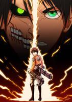 Eren Attack On Titan by Departedpro
