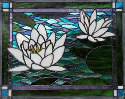 'Monet's' Waterlilies by AigneadhAigeann
