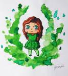Green flame by Yaizayu