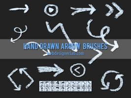 Grungy Hand Drawn Arrow Brushes by xara24