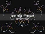 Swirl Doodles Brushes by xara24