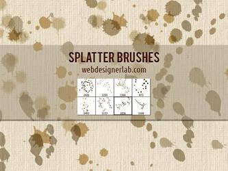 Splatter Brushes by xara24