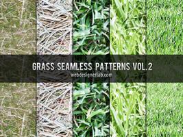 Grass Seamless Patterns Vol. 2 by xara24