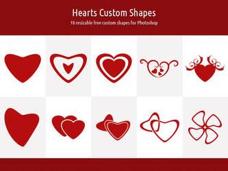 Hearts Custom Shapes by xara24