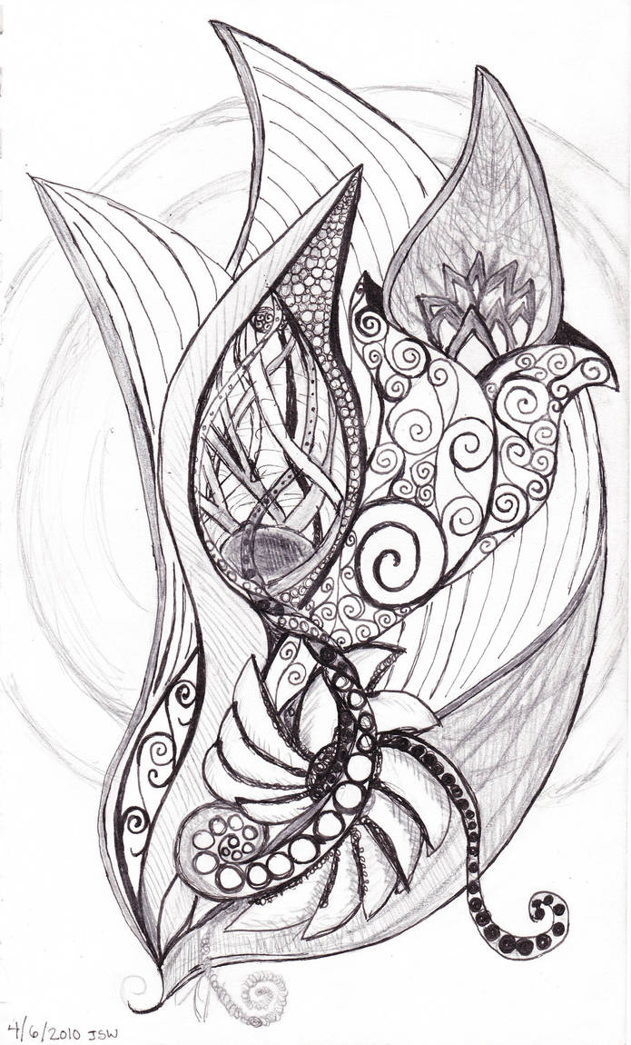 abstracted flower pod thing by the-twisted-vine