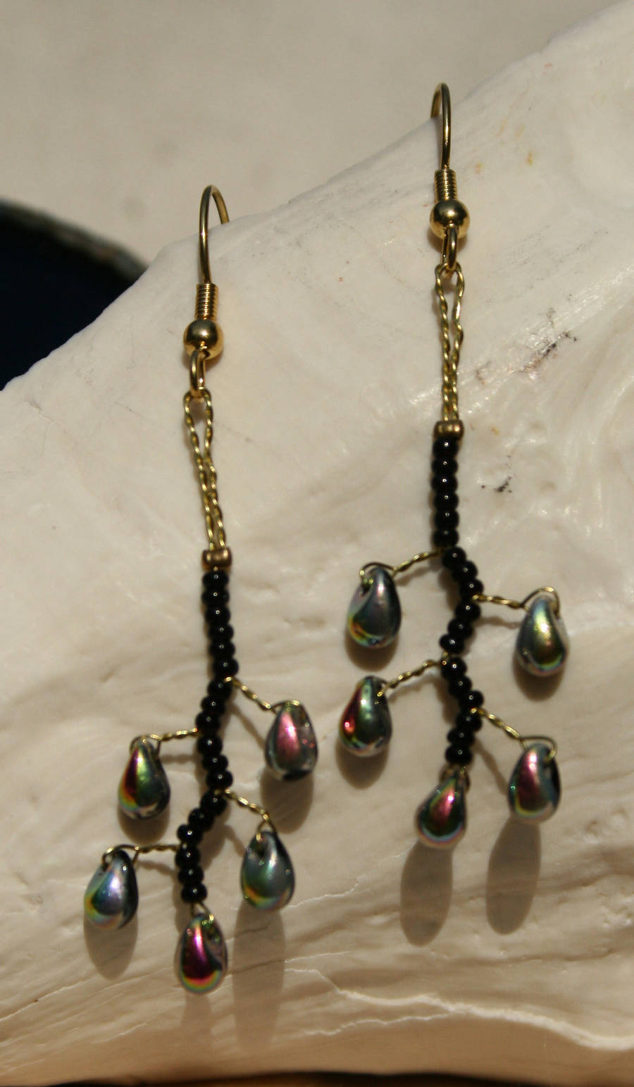 black silver vine drop earring by the-twisted-vine