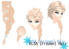 MMD - Elsa [Frozen]  Hair (W.I.P) DL available! by ynn016