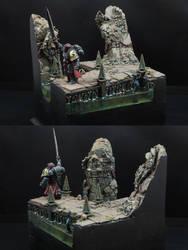 Black Templars Display - WIP (Work In Progress) by PBStuKKa