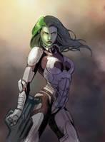 Gamora by arielmedel