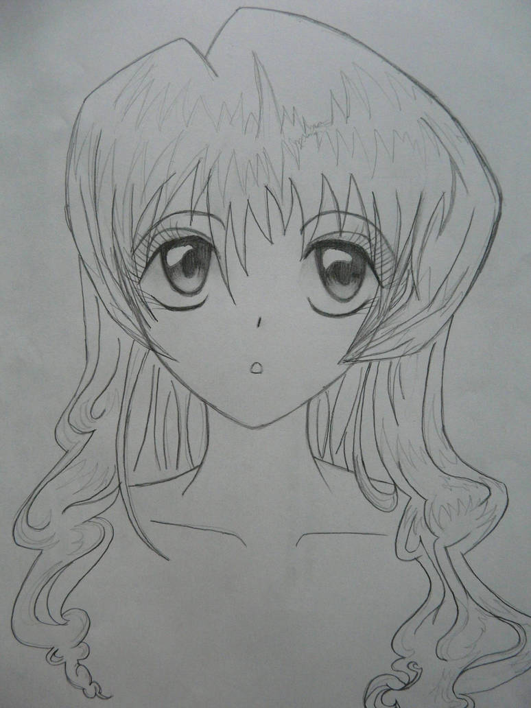 Anime pencil sketch by copecat26