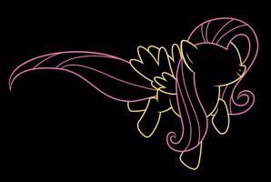 Skipping Fluttershy (Minimalistic) by DaringDashie