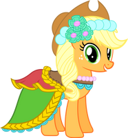 Applejack - Fancy Royal Wedding Duds by DaringDashie