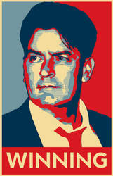 Charlie Sheen Poster by Sabin23