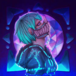 .:COLLAB:. Glitched Mask by WhereIsMyHeartsBeat