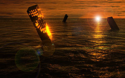 3D Sunset Destroyed by feigned-existence