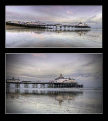 The Pier and the Moon by wreck-photography