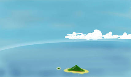 Flying over the sea by wtigga