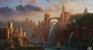 Capital of Azaliera by adamkuczek