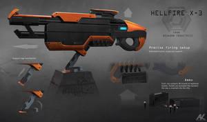 Hellfire X-3 rifle - details by adamkuczek