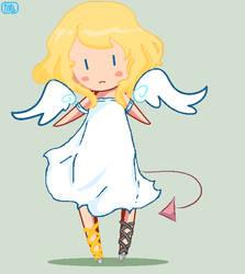 Angel or devil IDK by addicat