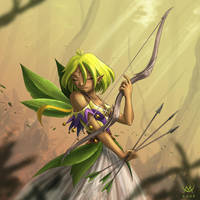 Elf in the breeze by Maxa-art