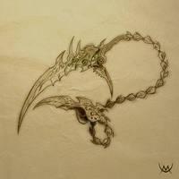 Serket's Blade sketch by Maxa-art