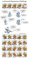 25 Expressions Meme by Maxa-art