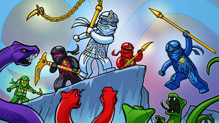 Ninjago-snakes by MichaelMetcalf