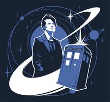 Doctor Who TeeFury Tee Design by ameba2k