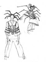 Anansi Diety sketch 2 by NStevenHarris