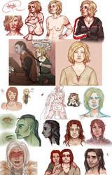 Skyrim OC Sketches by zeTobii