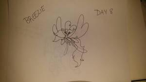 Art Challenge - Day 8 - Breezie  by cayfie