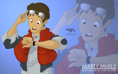 Marty McFly by DLeeArt