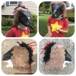 Utah Raptor Fursuit Head (For Sale) by shibblesgiggles01