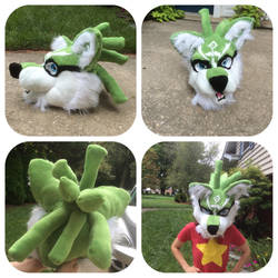 Wolf Link Fursuit Head by shibblesgiggles01