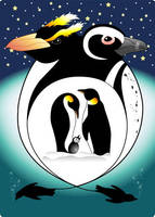 Penguin Totem Card by DarciGibson