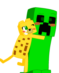 Notice me, Creeper-senpai! by AngryBirdFan
