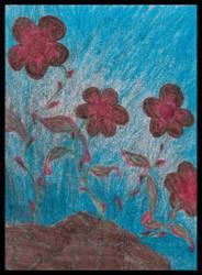 Bloody Flowers by petruva1991
