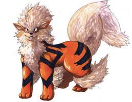 Pokemon Artwork: Arcanine by Pixelated-Takkun