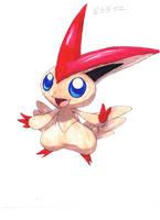 Legendary Pokemon: Victini by Pixelated-Takkun